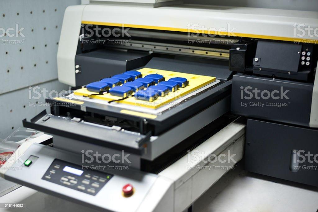 Professional industrial printer stock photo