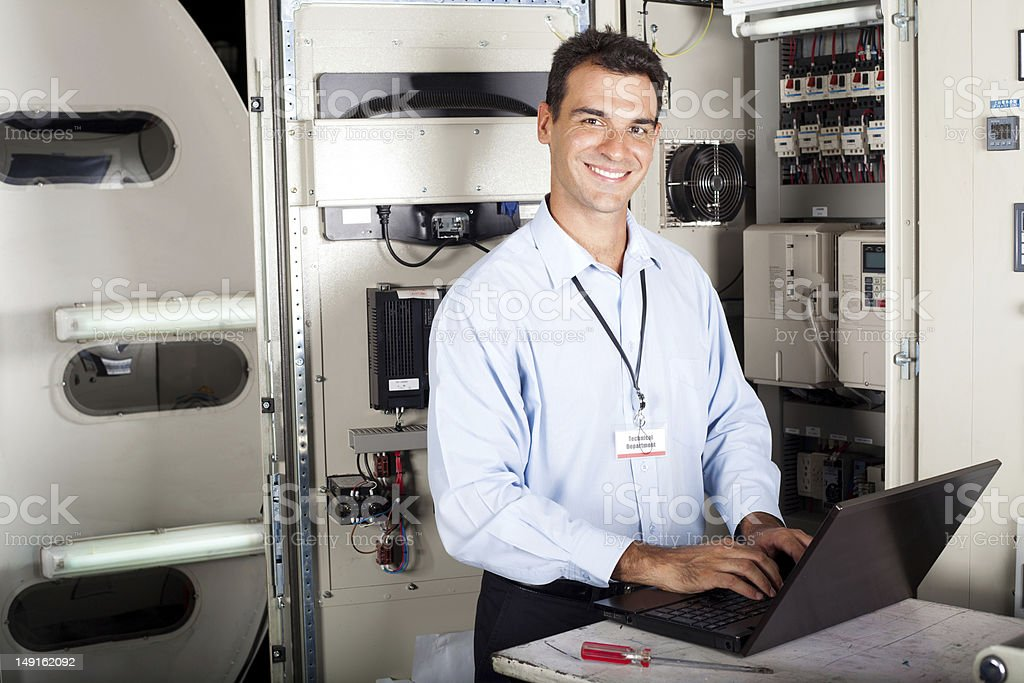 professional industrial technician stock photo