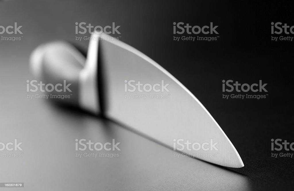 Professional kitchen knife stock photo