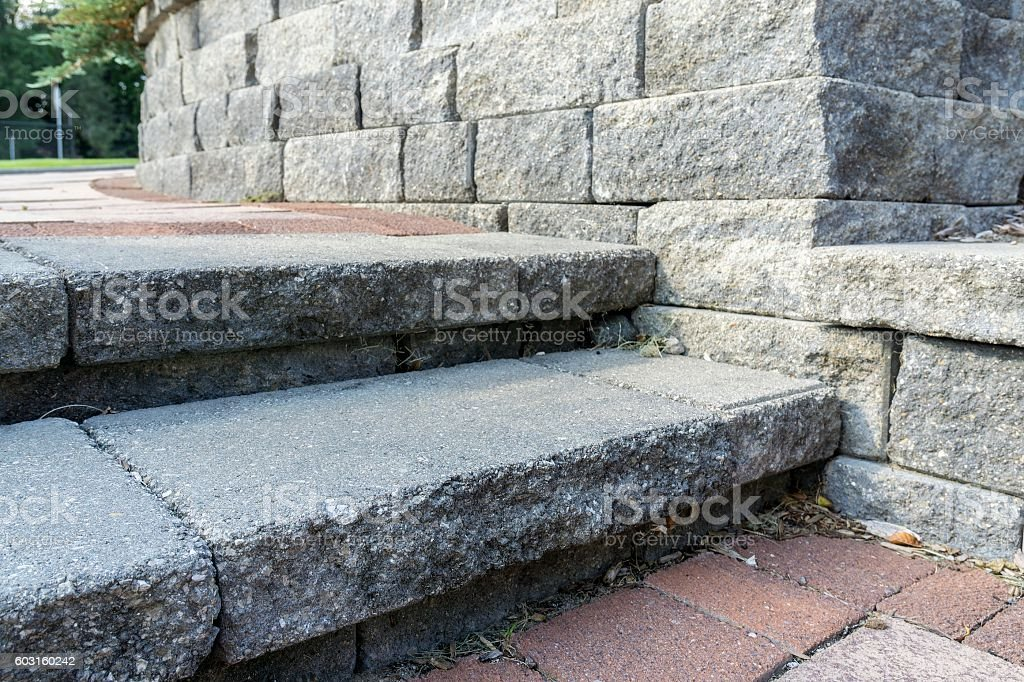 Professional Landscaping With Pavers stock photo