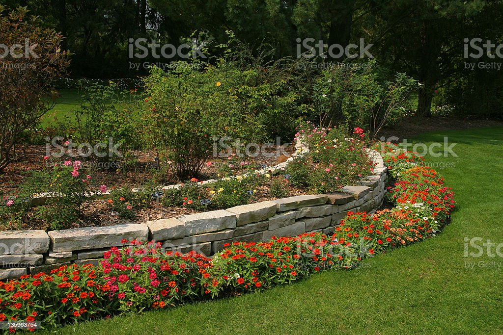 Professional Landscaping - Youngstown, Ohio stock photo