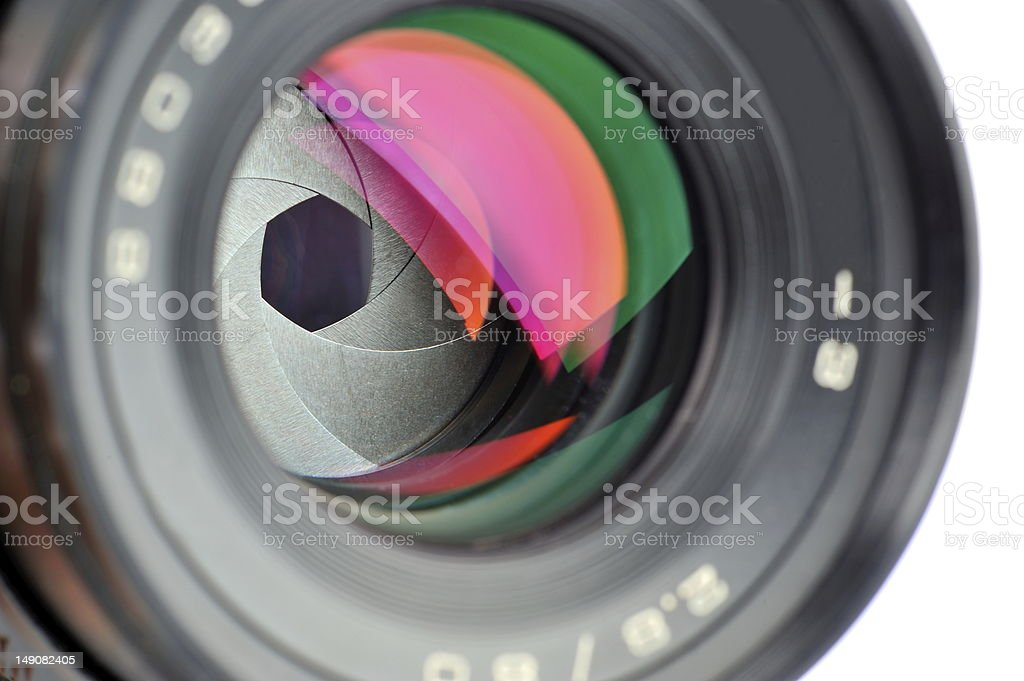 professional lens stock photo