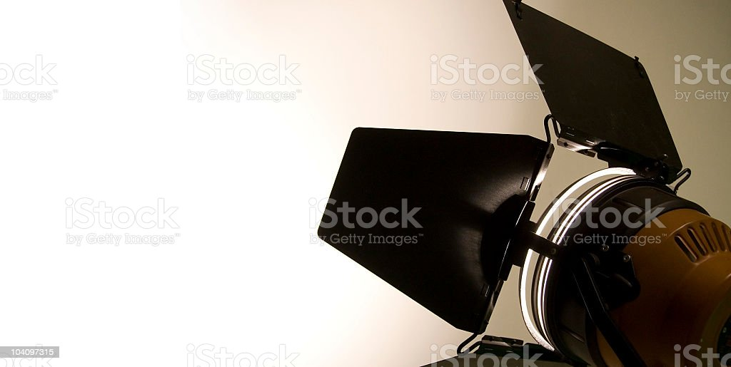 professional light brightens wall with a copy space stock photo