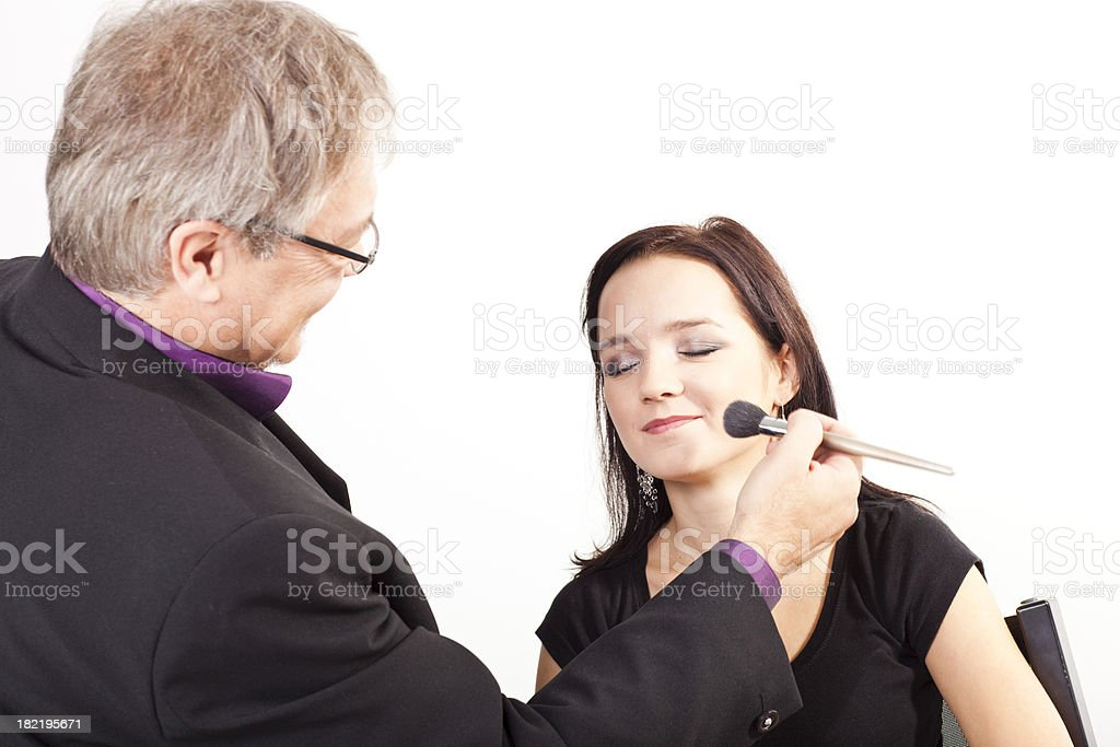 Professional make-up artist royalty-free stock photo