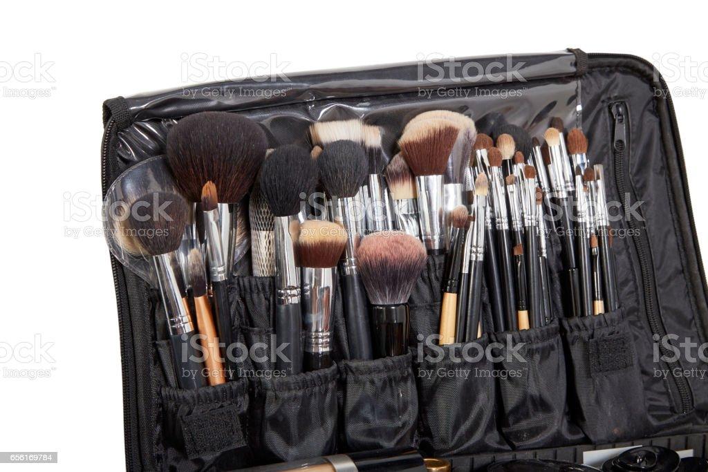 Professional make-up brush cosmetic stock photo