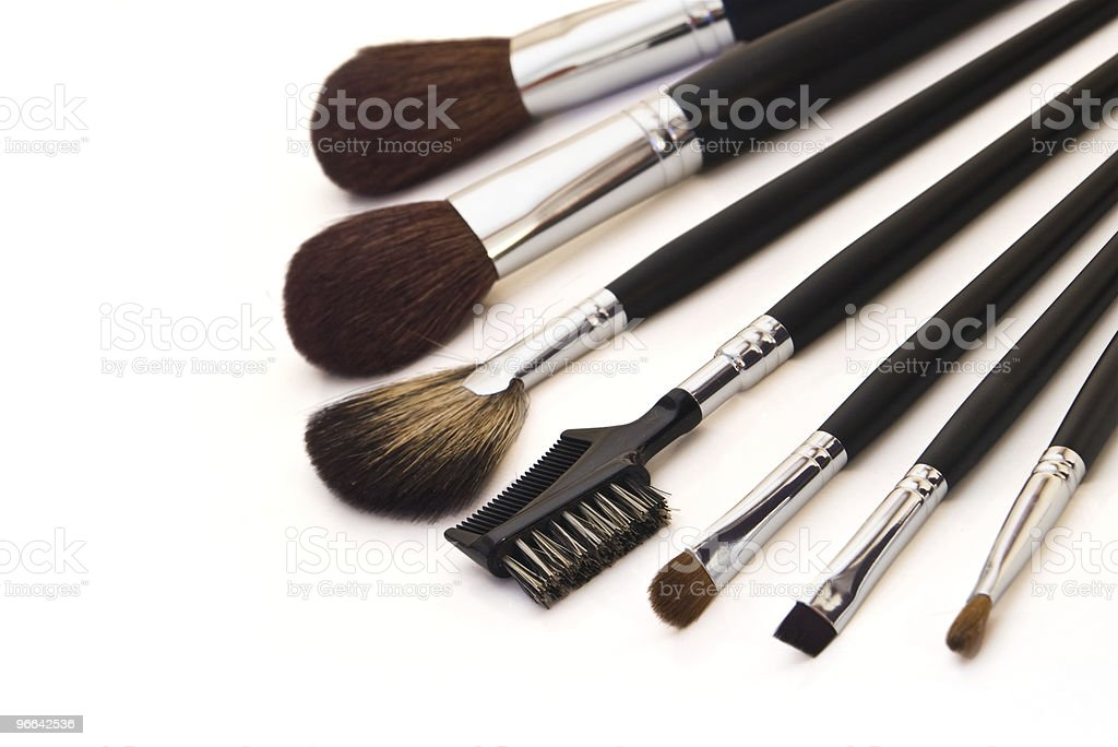professional make-up brushes royalty-free stock photo