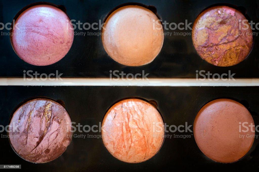 Professional make-up palette stock photo