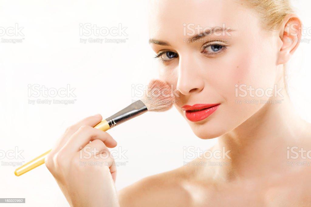 professional makeup stock photo