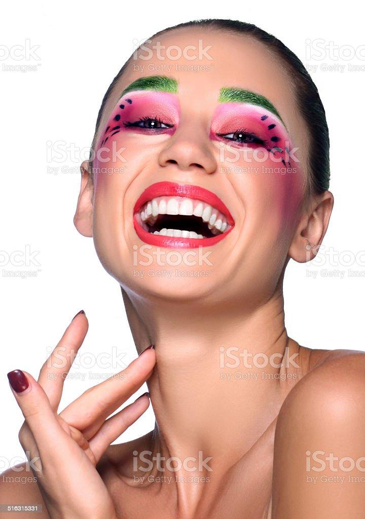 Professional make-up royalty-free stock photo