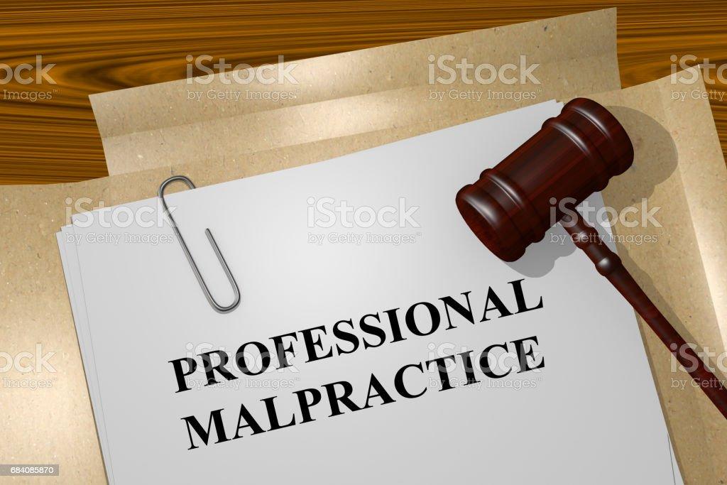 Professional Malpractice concept stock photo