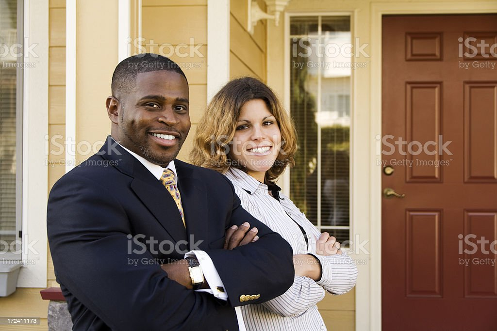 Professional man with his assistant royalty-free stock photo