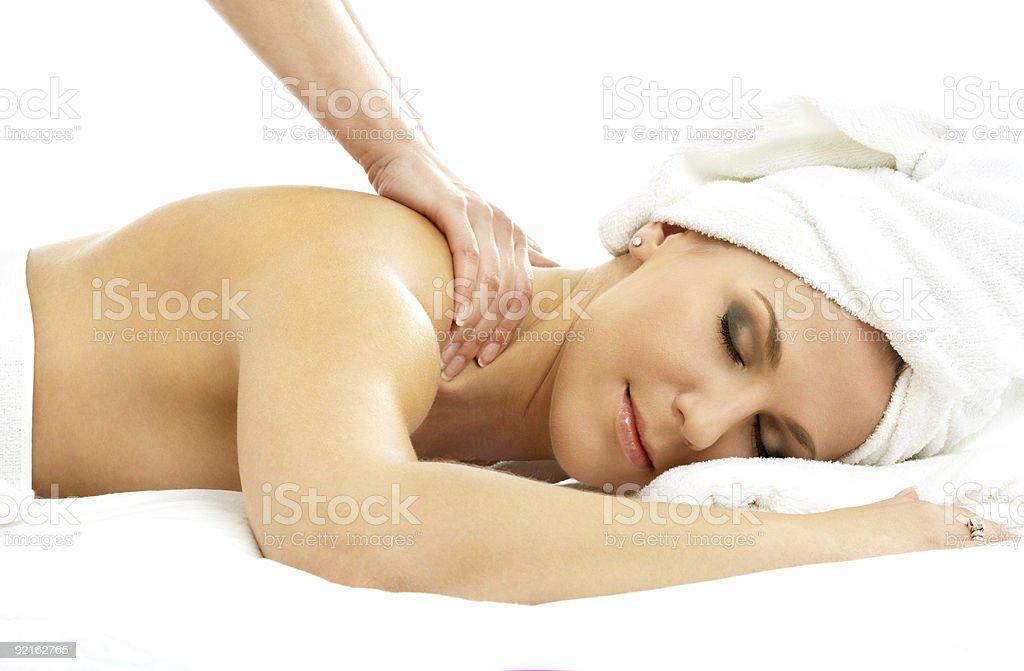 professional massage royalty-free stock photo