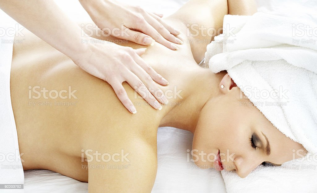 professional massage #2 royalty-free stock photo