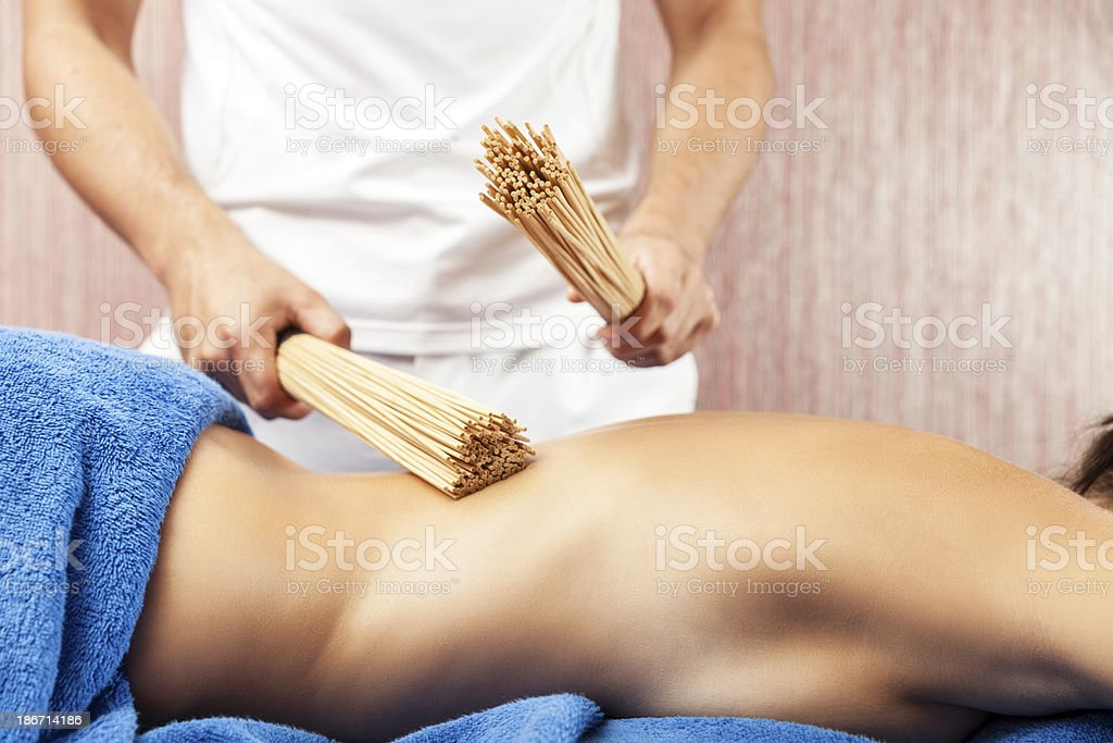 Professional Massage Therapist royalty-free stock photo