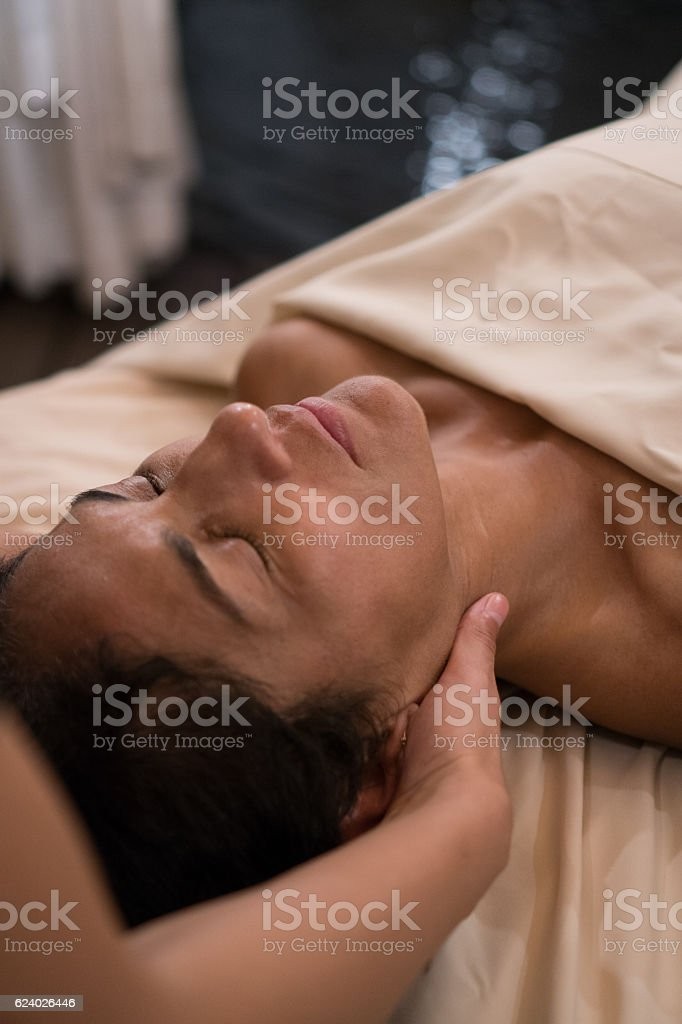 Professional Massaging Face stock photo