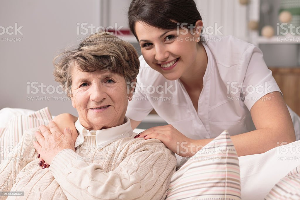 Professional medical care stock photo