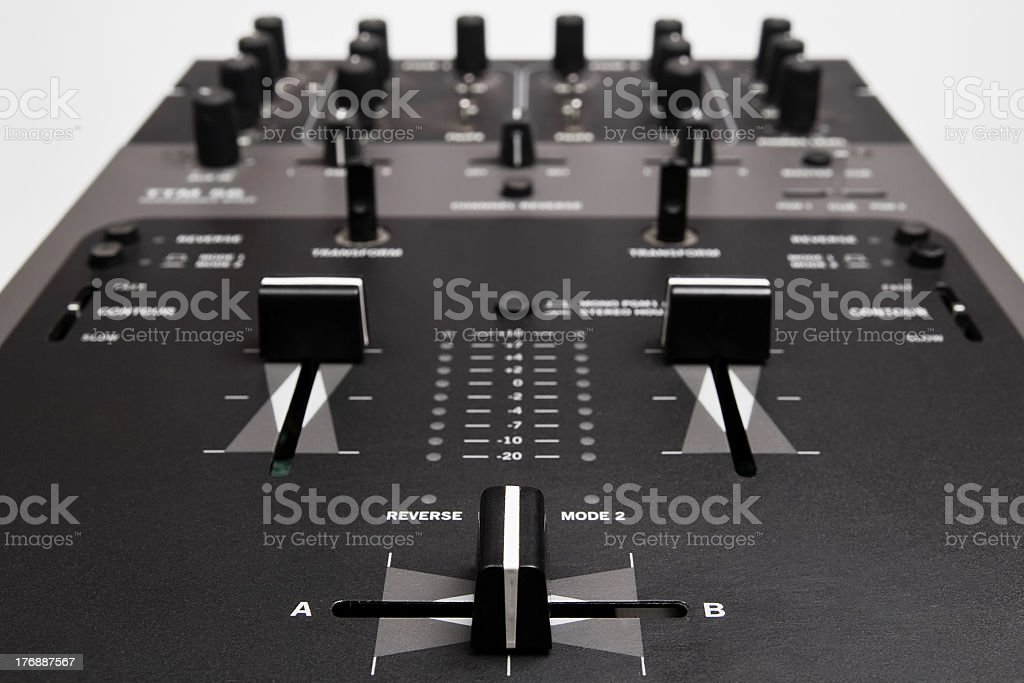Professional Mixing Controller for dj stock photo