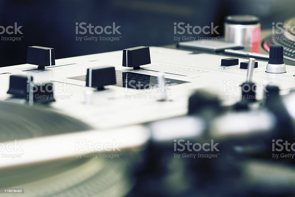 Professional Mixing Controller stock photo