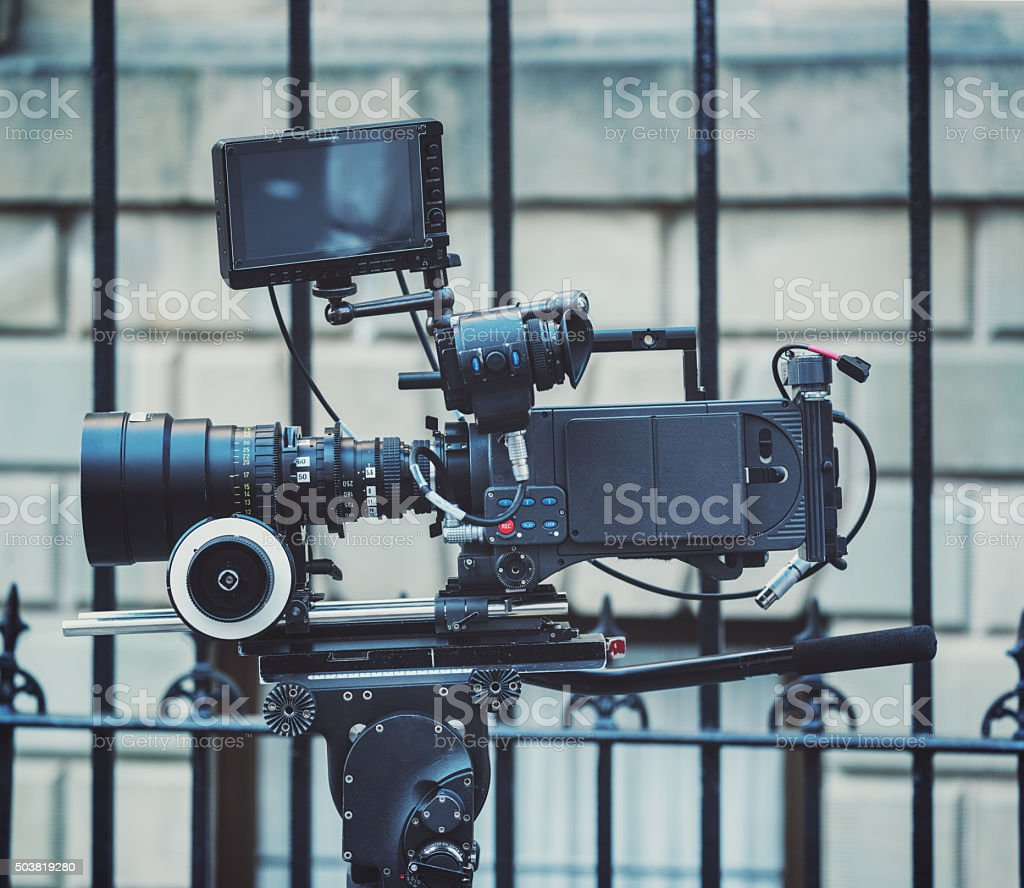 Professional Motion Picture Camera stock photo