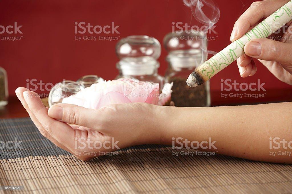 Professional  moxa sticks stock photo