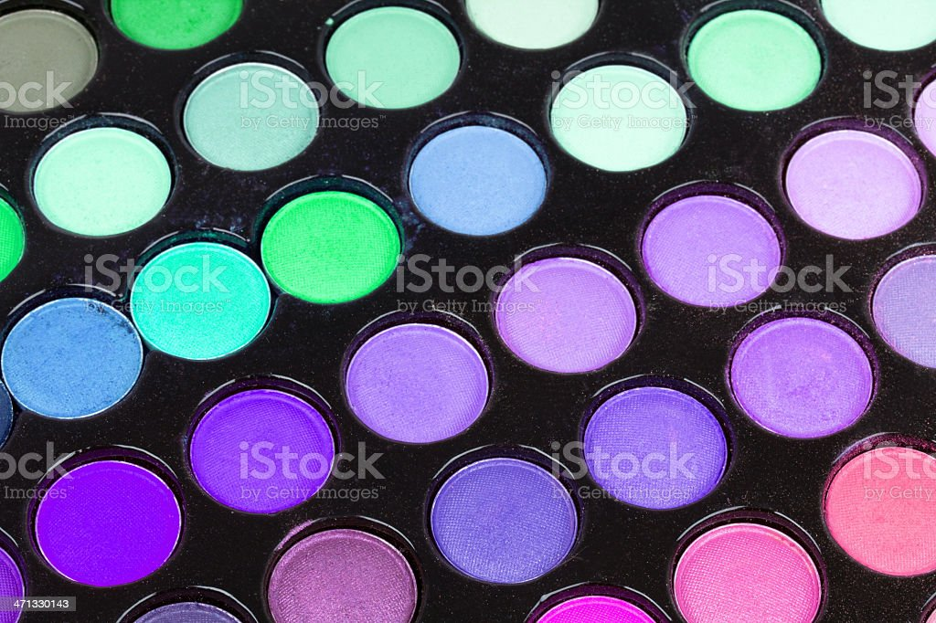 Professional multicolor eyeshadows palette royalty-free stock photo