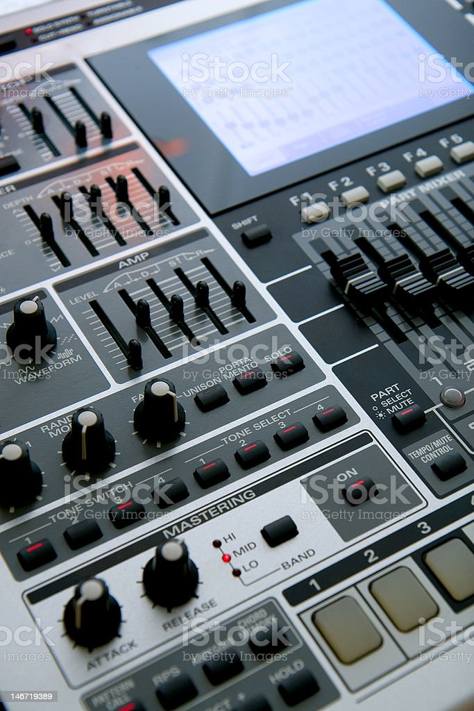 Professional Music Workstation stock photo