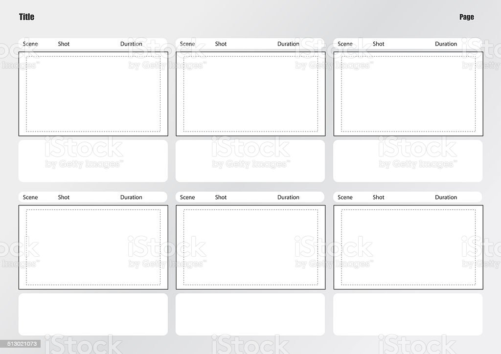 Professional of film storyboard template stock photo