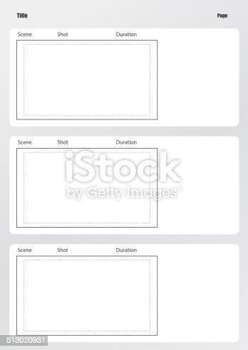 Vertical Storyboard Clip Art Vector Professional Of Film Storyboard