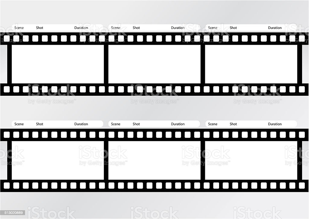 Professional of storyboard film strip template stock photo