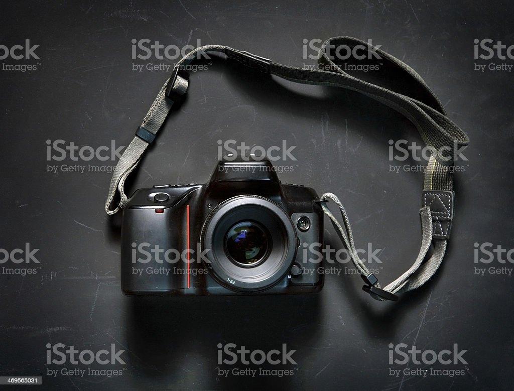 Professional photo camera stock photo