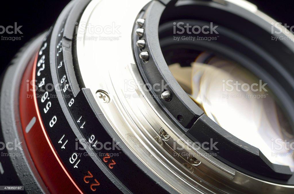Professional photo lens closeup royalty-free stock photo