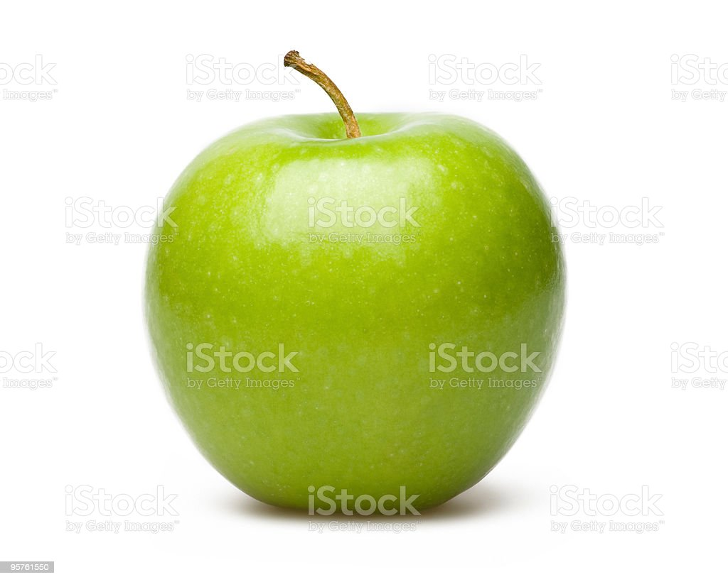 Professional Photograph of a green apple stock photo