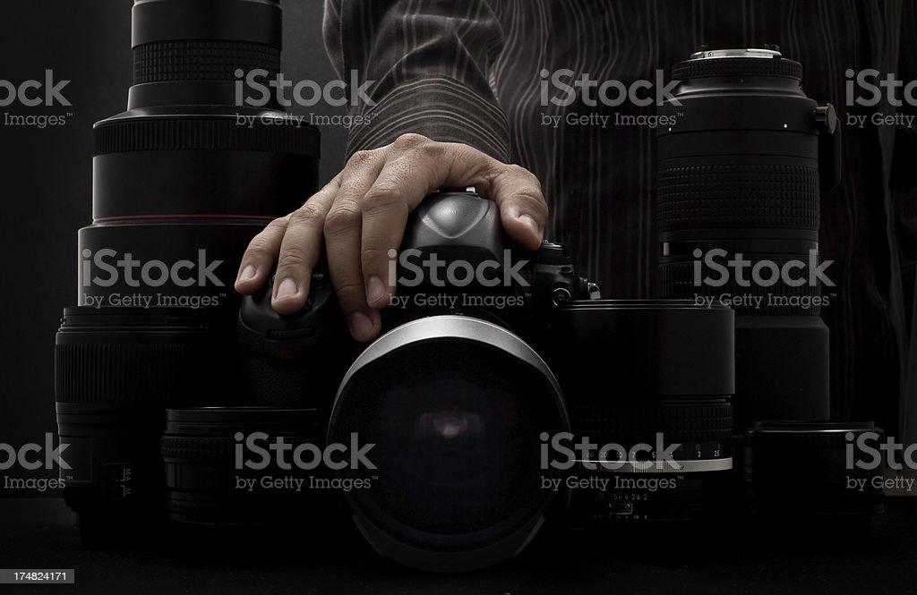 Professional Photographer royalty-free stock photo