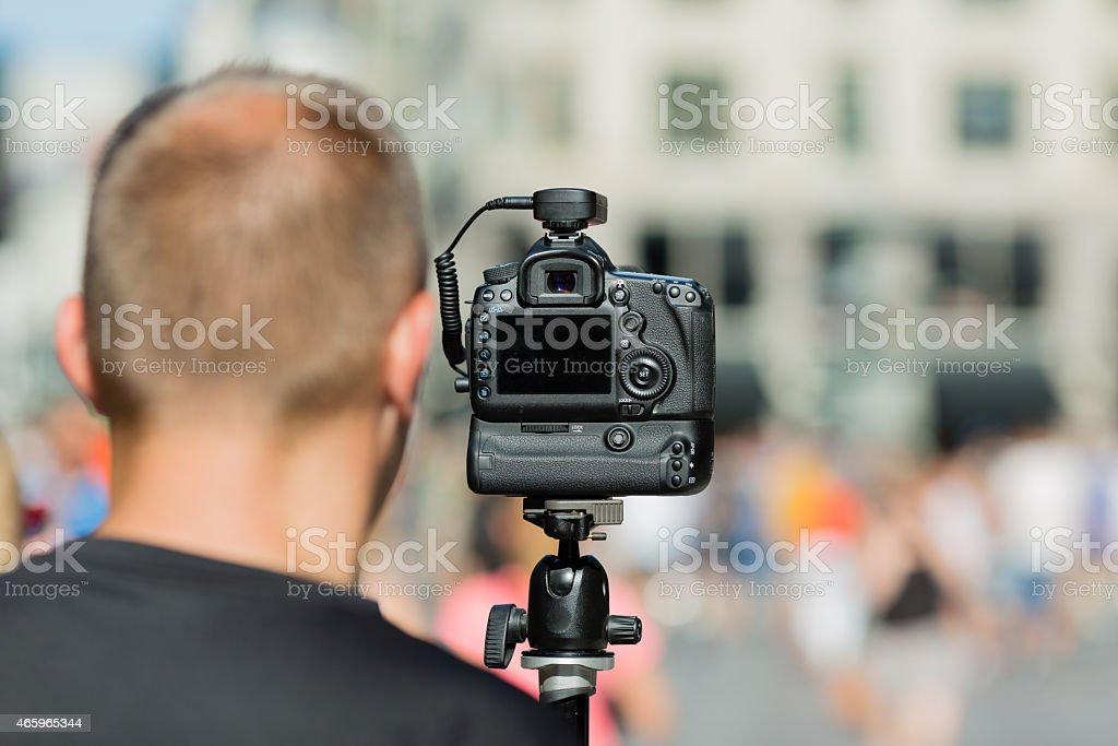 Professional photographer stock photo
