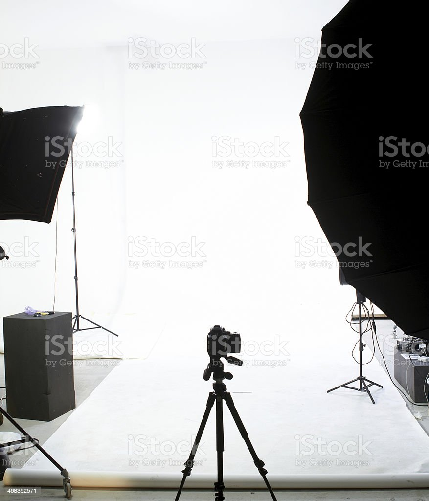 Professional photography studio stock photo