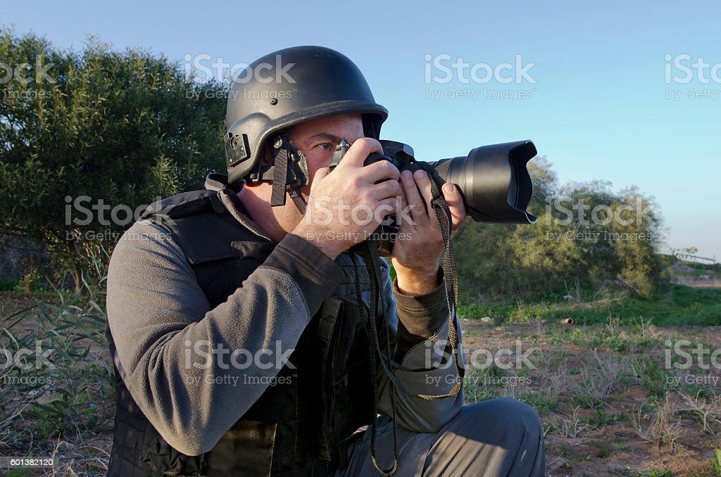 Professional Photojournalist stock photo