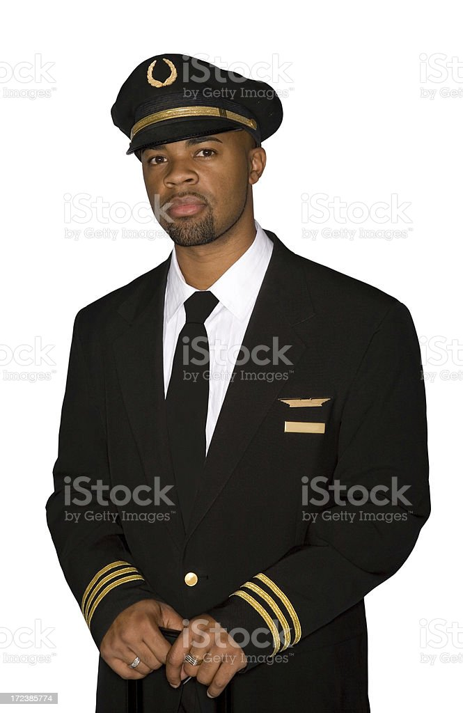 Professional Pilot stock photo