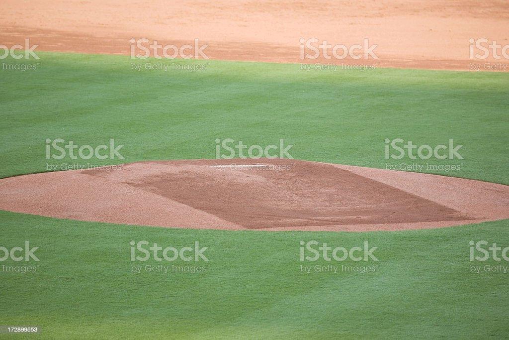 professional pitcher's mound royalty-free stock photo