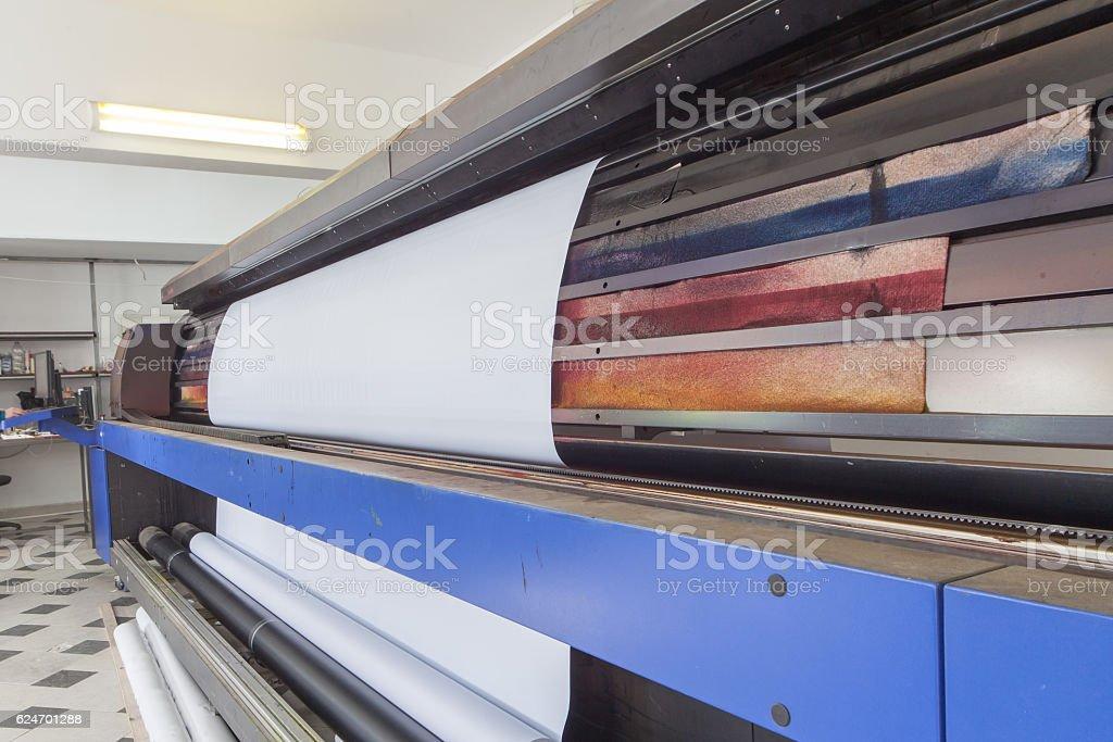 professional printing machine in printing house stock photo