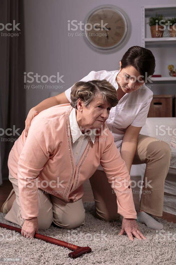 Professional private caregiver stock photo