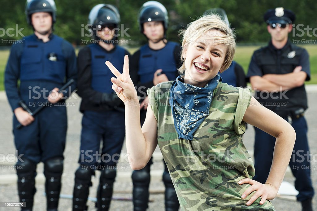 Professional Protester stock photo