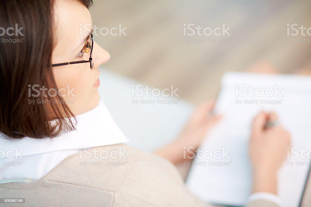 Professional psychiatrist stock photo