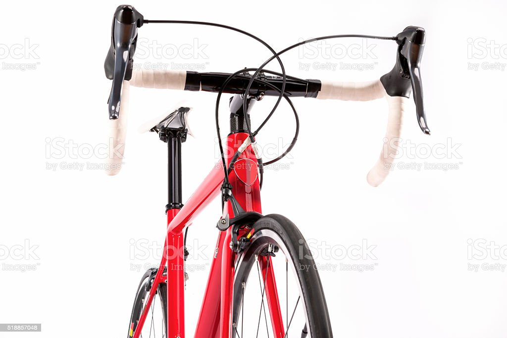 Professional Road Bicycle With Carbon Frame stock photo