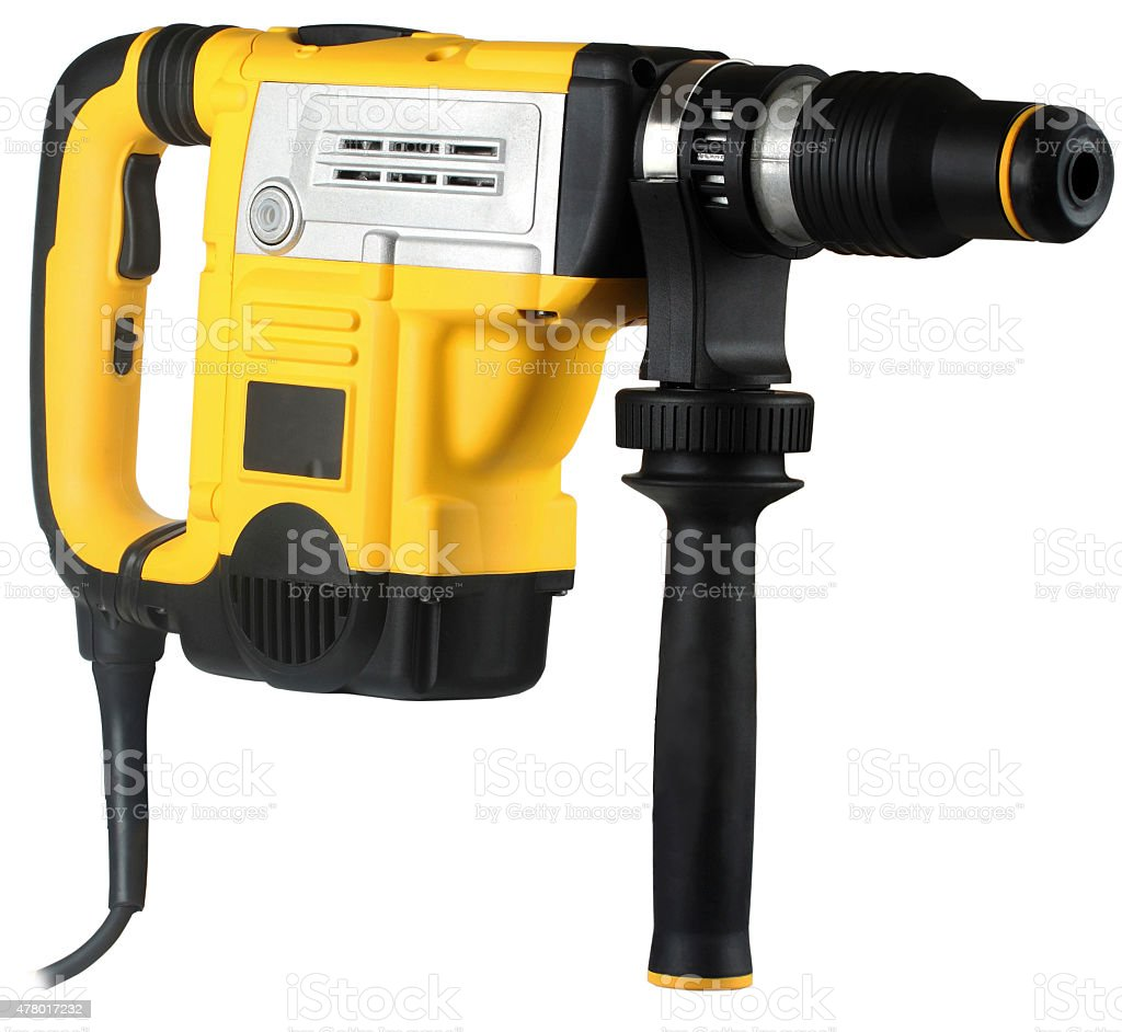 professional rotary hammer stock photo