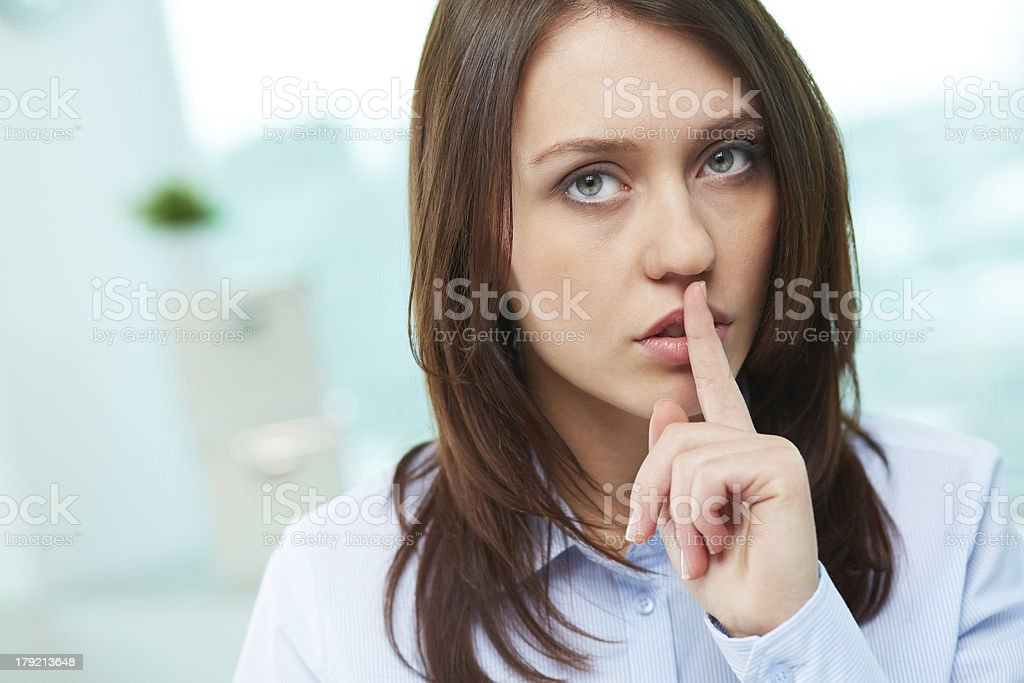 Professional secrecy royalty-free stock photo