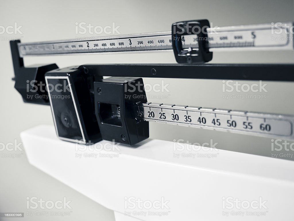 Professional Sliding Weight Medical and Sports Scale royalty-free stock photo