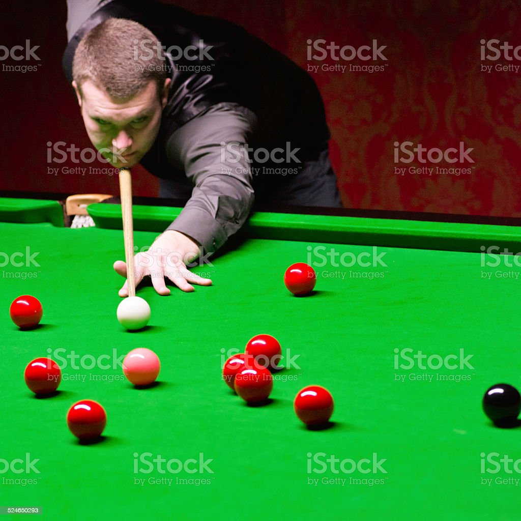 Professional Snooker Player stock photo