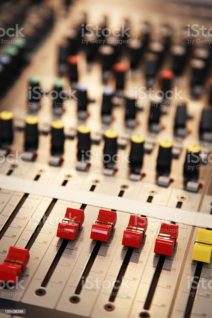 professional sound mixer stock photo