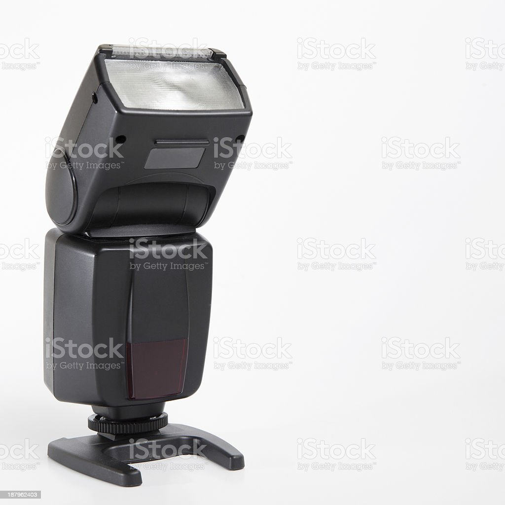 Professional speedlight stock photo