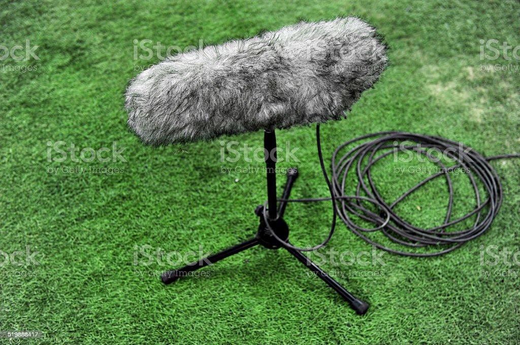 Professional sport microphone stock photo